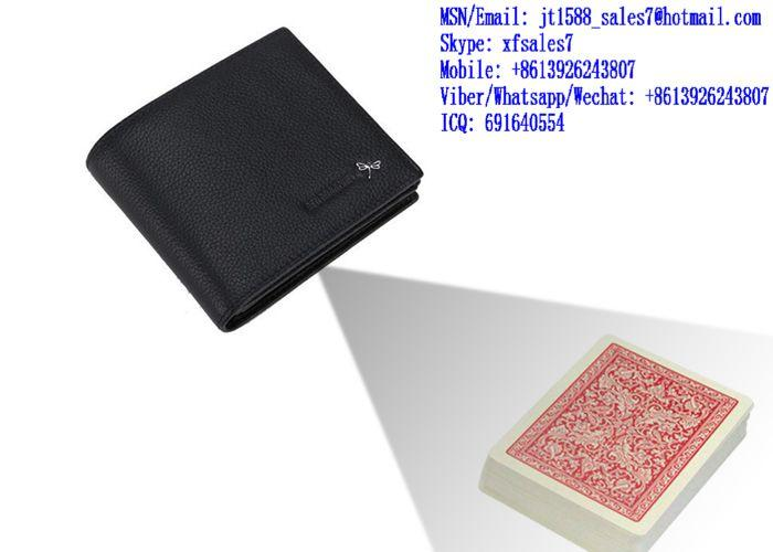 XF Black Short Wallet Camera To Scan And Analyze Invisible Bar-Codes Marked Playing Cards For Poker Analyzers