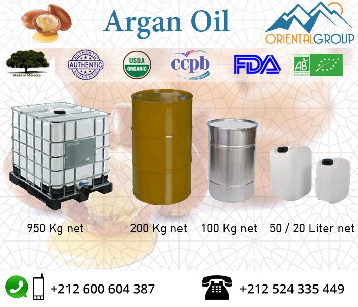 ORGANIC VIRGIN AND DEODORIZED ARGAN OIL