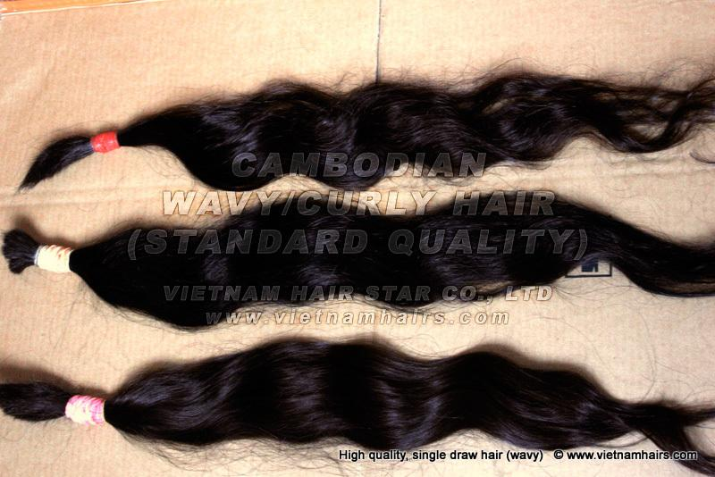 Cambodian Natural Wavy/ Curly Hair Wholesale Price Top Vietnam Supplier