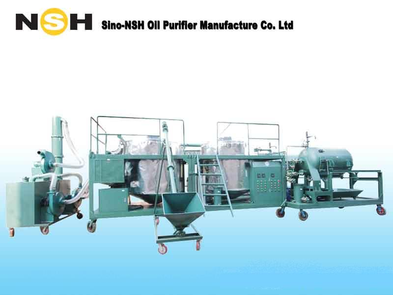 Black Engine Oil refinery and recycling machine