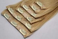 Full-Head Set Clip-In Hair Extensions Wholesale Price Premium Quality Gold Supplier