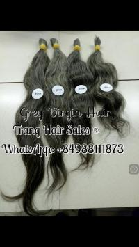 Virgin Grey Hair Wholesale Price Can Bleach
