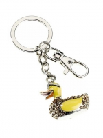 Jewelled Heart Key Ring/Handbag Charm