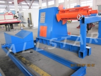 10 tons hydraulic uncoiler with coil car
